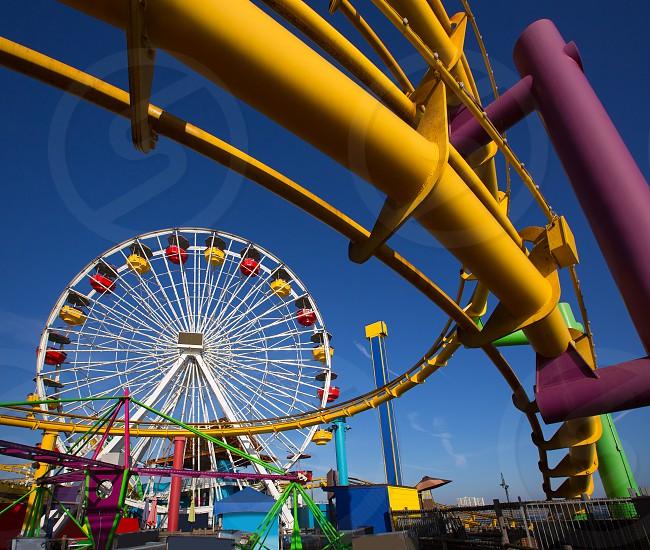 Santa Moica pier Ferris Wheel in California USA photo