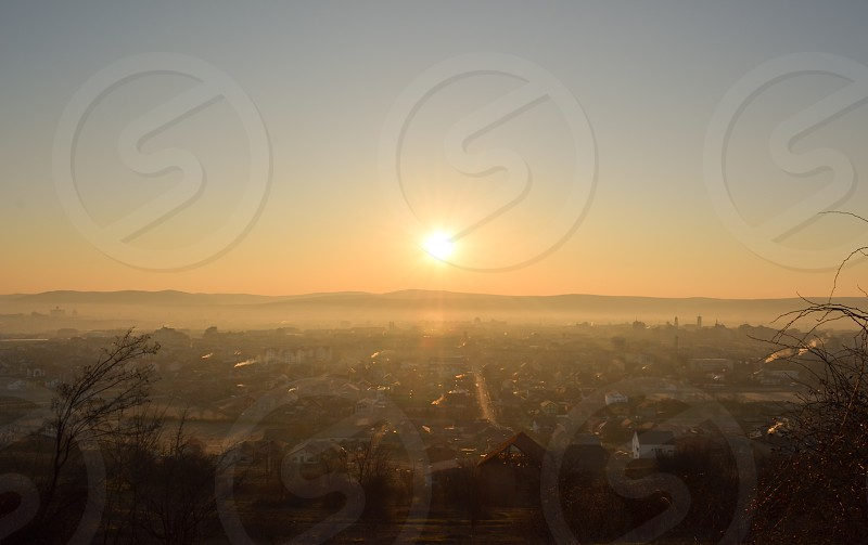 My view of town in sunrise photo