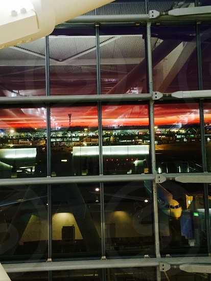 Beautiful view from Heathrow Terminal 5 concord lounge  photo