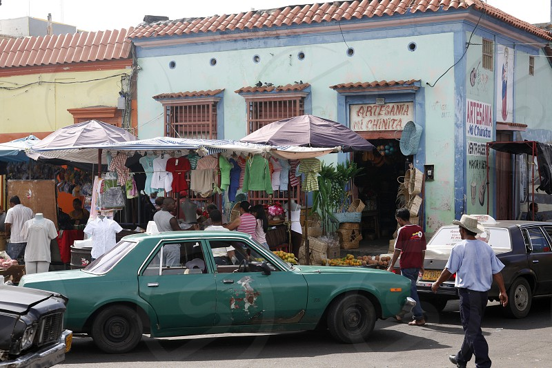 street life in the town of Maracaibo in the west of Venezuela. photo