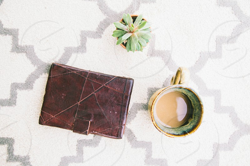 vintage brown leather wallet photo