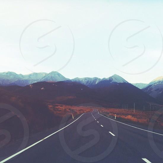 black highway road photo