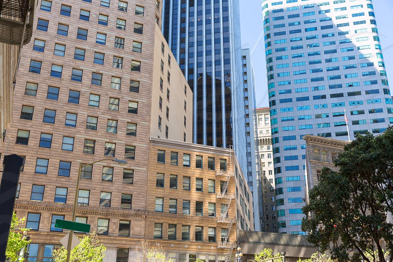 San Francisco Market Street Downtown in California USA photo
