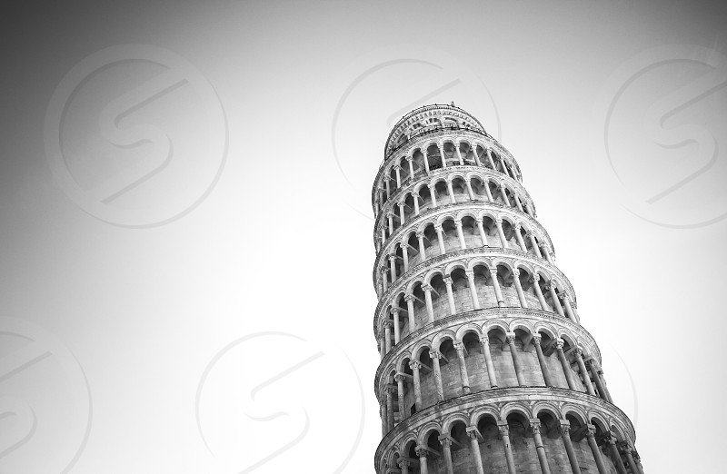 The famous tower of Pisa with vignetting effect in the edges photo