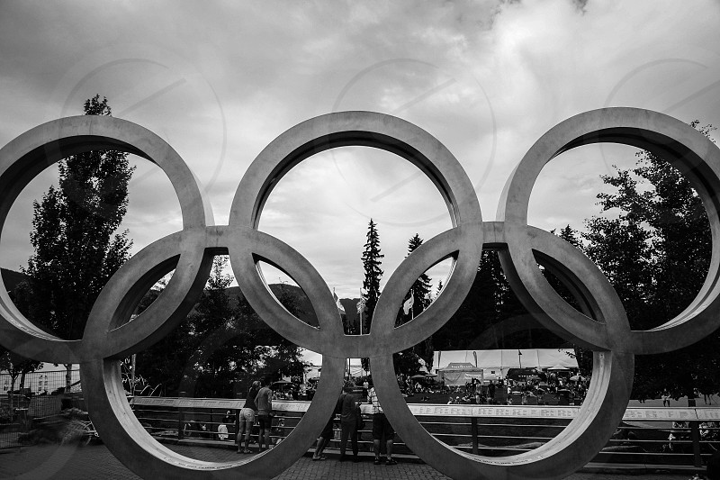 Circles Olympic circles Olympic Games Vancouver Canada travel photo
