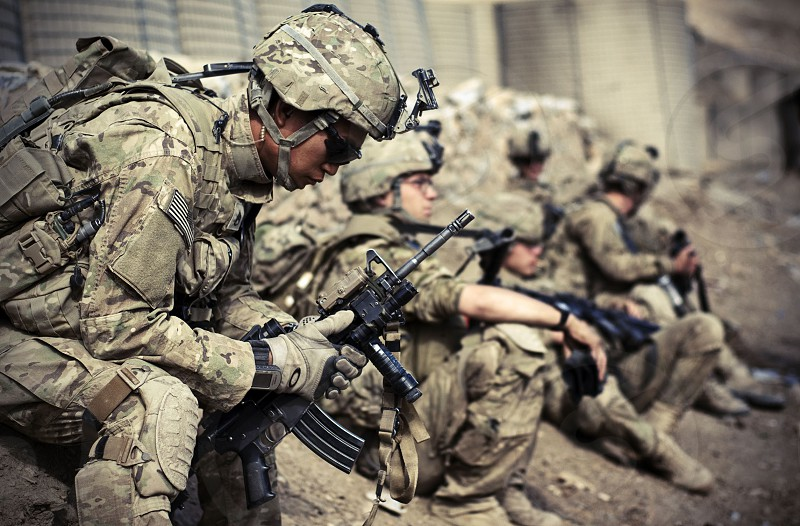 Soldiers ready to head out on mission in Afghanistan photo