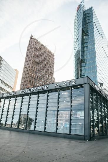 black Bahnhof Potsdamer Platz store photo