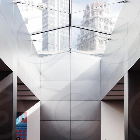 white building interior photo