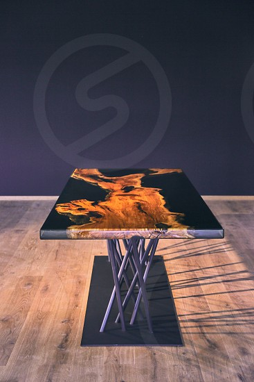 olive wood epoxy table photo