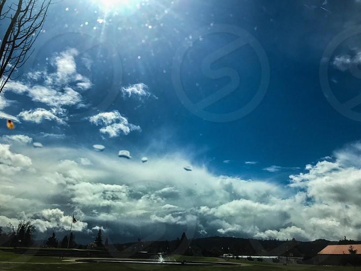 Sky clouds sun  photo