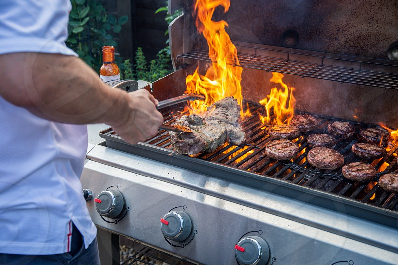 Cooking on the barbecue photo