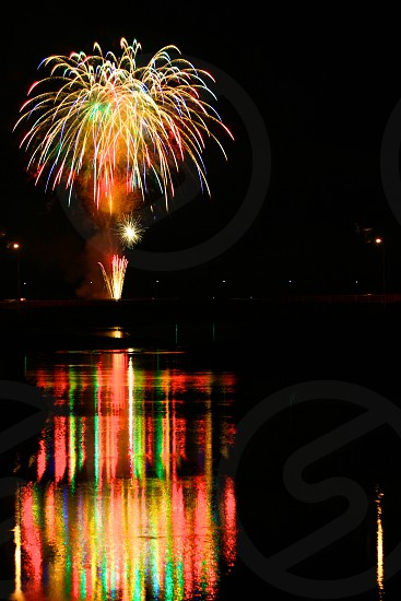 Reflection (7) : 'Fireworks on Water'  photo