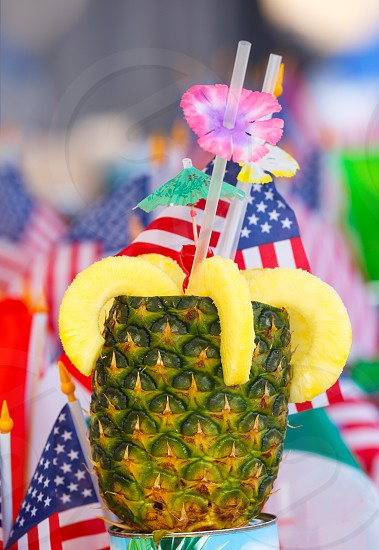 Fruit cocktail at a fourth of July celebration photo