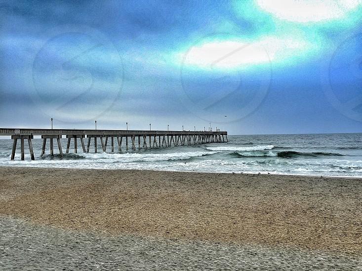 Fishing pier in Wilmington North Carolina photo