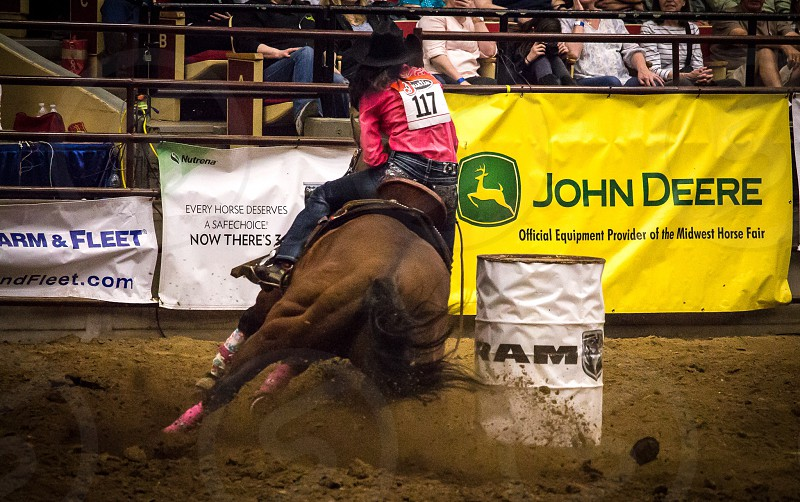 Rodeo : PRCA  cowgirl  photo