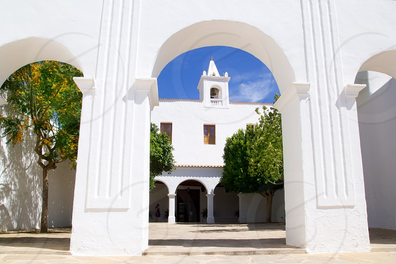 Ibiza San Miguel Sant Miquel de Balansat white Mediterranean church photo