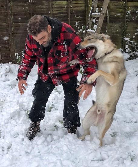 Happy in the snow photo