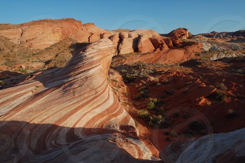 red desert rocks photo