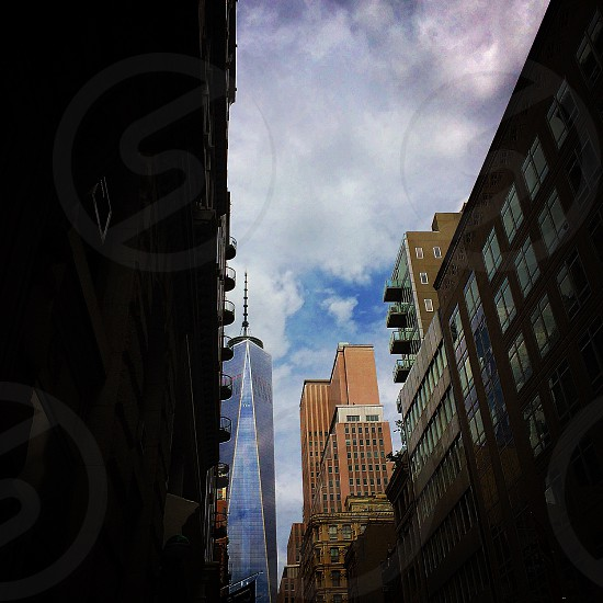 city buildings blue sky photo