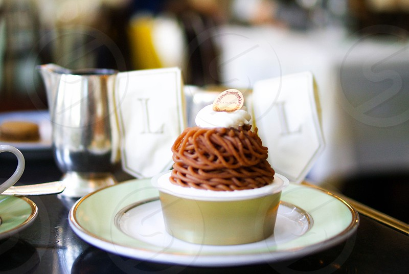 Pastry patisserie Laduree Paris Mont-Blanc  photo