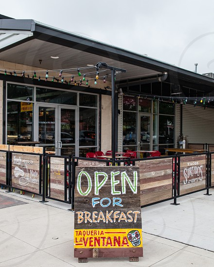 open for breakfast taqueria la ventana signage during daytime photo
