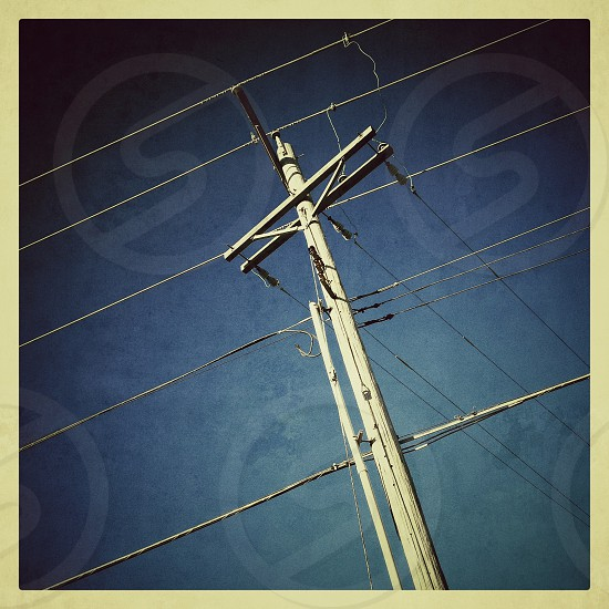 power pole wires electricityskyangle border  photo