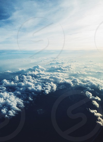 sea of clouds aerial view photo