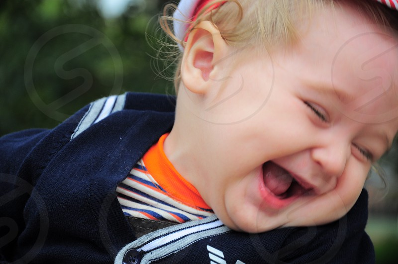 baby laughing photo