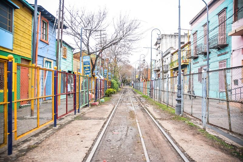 Raíl train railway Buenos Aires argentina caminito photo