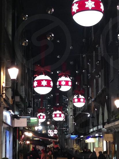 London Christmas street at night photo