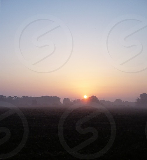 Another sunrise over typically English landscape photo