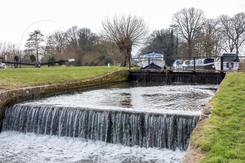 Papercourt Lock on the River Wey Navigations Canal photo
