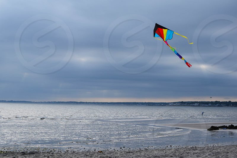 water beach kite photo