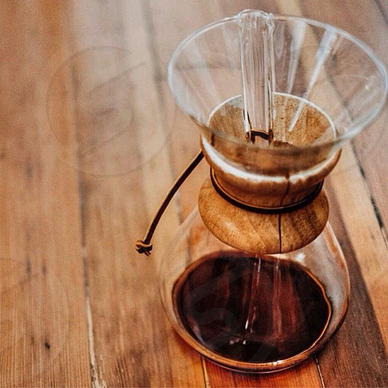 clear glass coffee pitcher photo