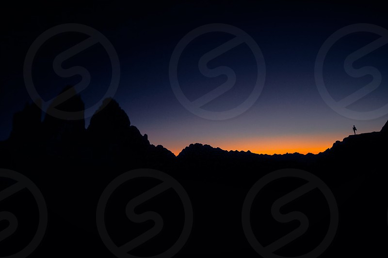 black nightnightdolomitesalpsphotographergreatnesslandscapenatureabstractminimalism photo