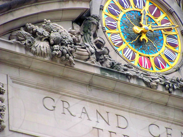 Architecture Grand Central Station New York City Clock photo