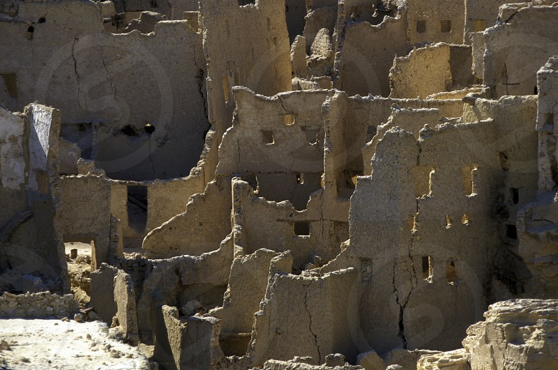 the old town of the Oasis and village of Siwa in the lybian or western desert of Egypt in north africa photo
