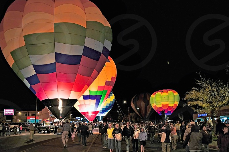 People Enjoying Themselves at the Page Balloon Festival photo