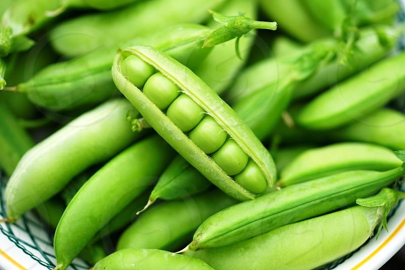 Green pea green peas shell pod food vegetable fresh healthy vitamin spring photo