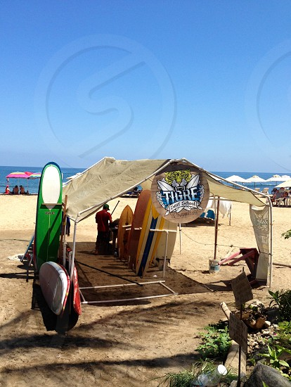 Surf shop on the beach Sayulita Mexico  photo