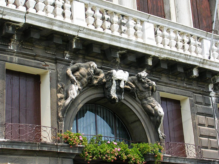 Venice building sculpture Italy Italian art architectural photo