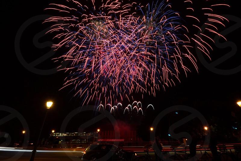 Firework over Schloss Bellevue  photo