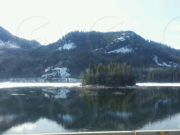 Snowy lake. photo