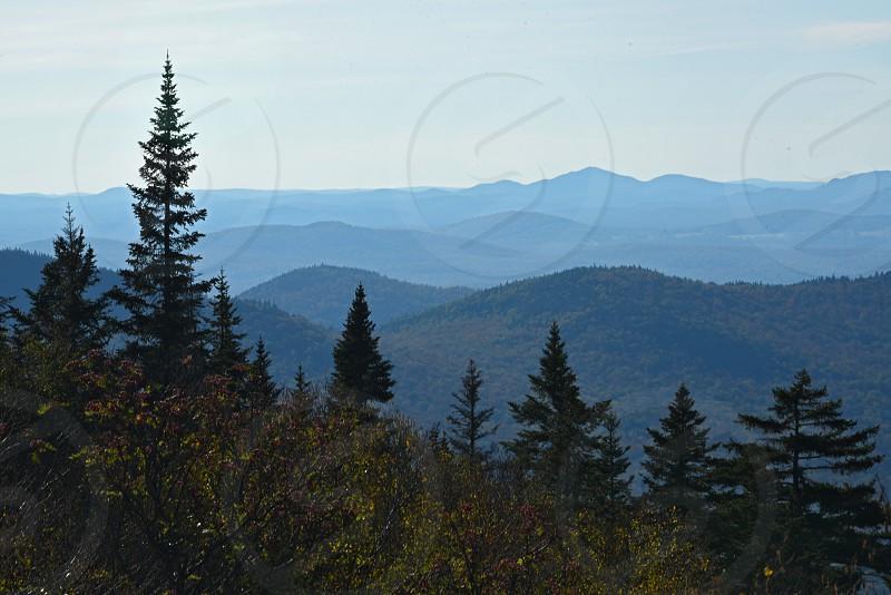 Adirondack mountain views in fall. White Face Mountain Summit. photo