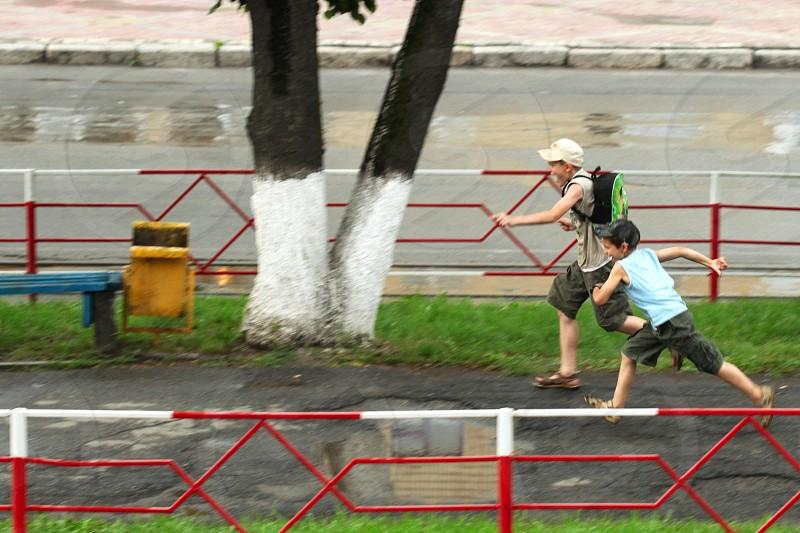 running summer activities photo