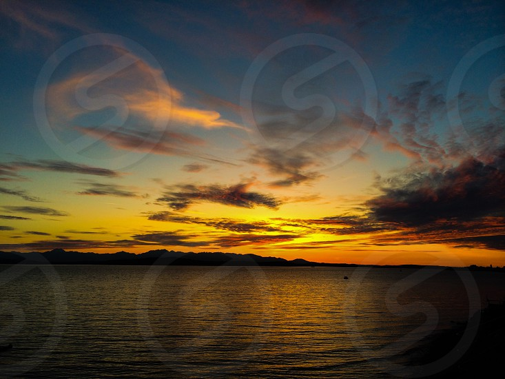 Sunset west Seattle  photo