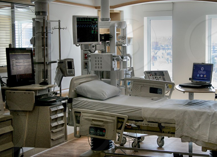 Hospital bed. photo