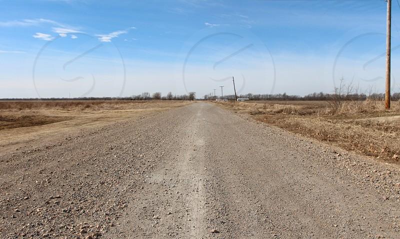 Old gravel road photo