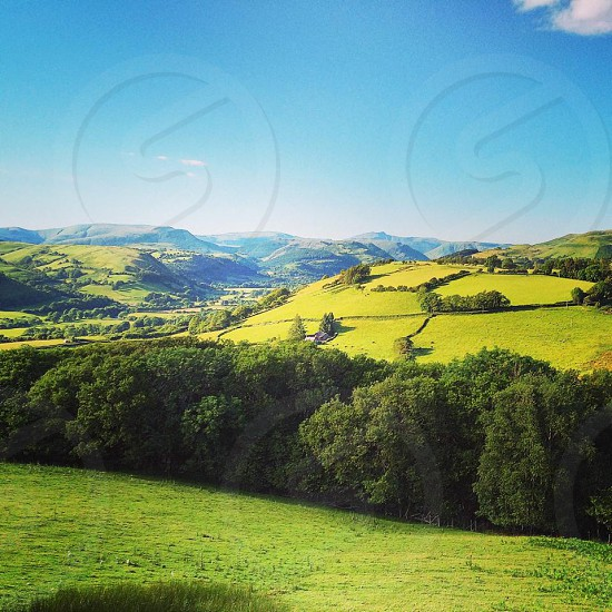 Summer Hills Wales UK photo