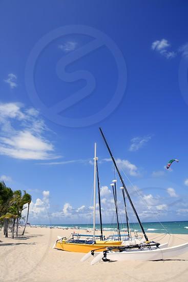 Fort Lauderdale catamaran beach Florida blue sky photo